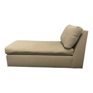 Crate & Barrel Modern Armless Chaise For Sale