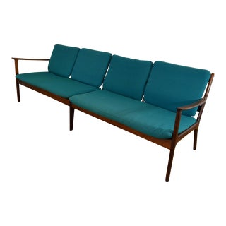 Ole Wanscher Danish Rosewood Four Seat Sofa
