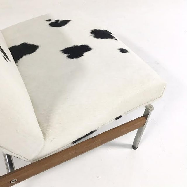 Forsyth One of a Kind Glenn of California Lounge Chair Reupholstered in Brazilian Cowhide For Sale - Image 5 of 7