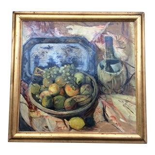 Antique Still Life Oil Framed Painting For Sale