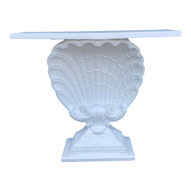 Grosfeld House Plaster Shell Console For Sale
