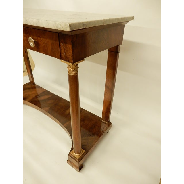 Early 19th Century French Empire Walnut Console For Sale - Image 5 of 10