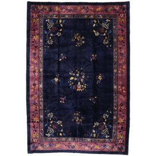 Early 20th Century Antique Chinese Peking Rug - 9′11″ × 14′7″ For Sale