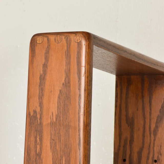 Mid Century Modern Solid Oak Wood Wall Unit by Lou Hodges For Sale - Image 9 of 11