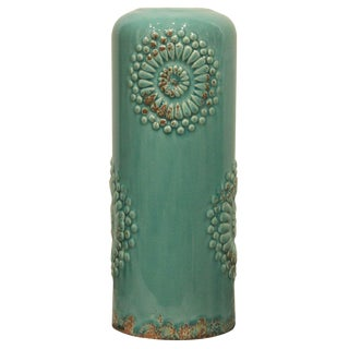 Contemporary Turquoise Vase For Sale