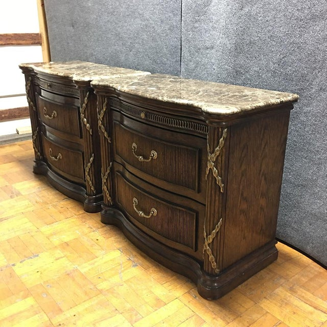 Philippe Langdon Marble Top Nightstands - Image 3 of 11