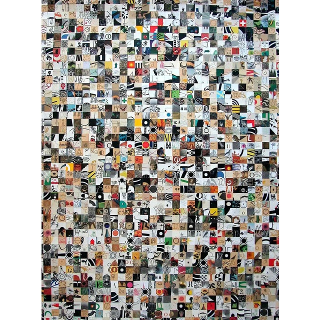 """Urso Colorful Contemporary Collage """"Stop Go"""" For Sale"""