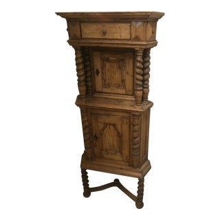 Late 19th Century Latvian Country Pine Corner Cabinet For Sale