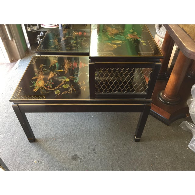 Chinoiserie Signed Katherine Henick Side Table - A Pair For Sale In San Francisco - Image 6 of 9