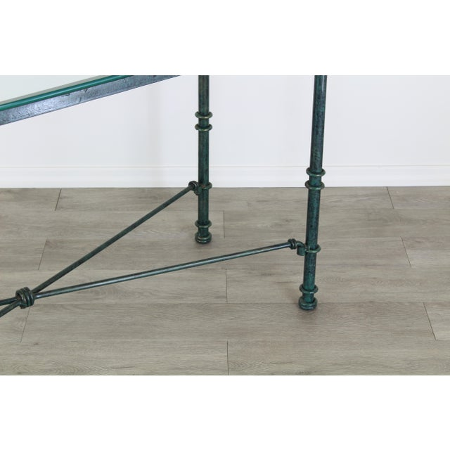 Diego Giacometti Style Iron Console Table, Metal Console Table For Sale In Miami - Image 6 of 10