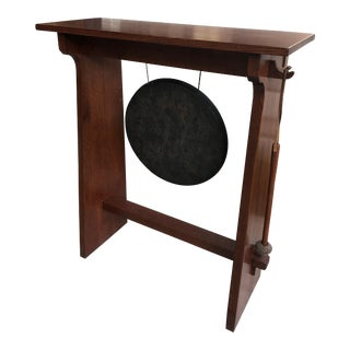 Stickley Gong on Stand With Mallet For Sale
