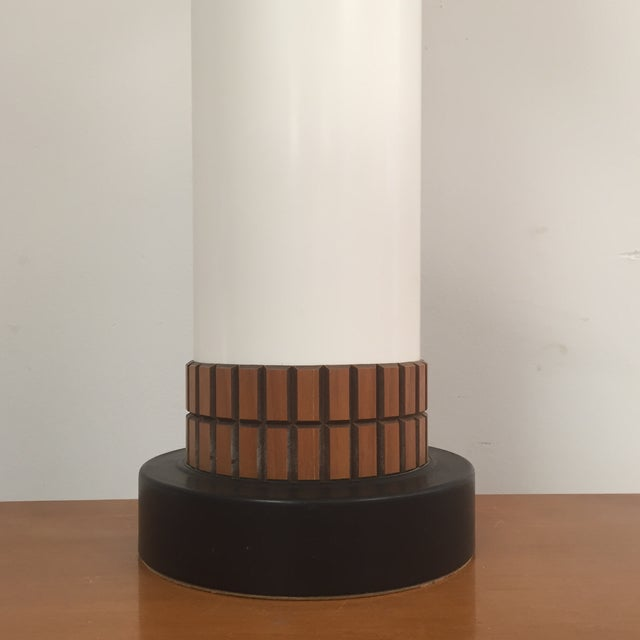 Mid-Century Cylinder Table Lamp - Image 3 of 10