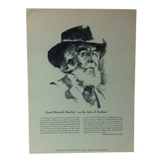 """1962 """"Ernst Heinrich Haeckel - on the Duty of Thinkers"""" The Rand Corporation Famous People in History Print For Sale"""