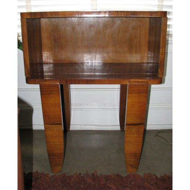 French Art Deco Burl Wood Cabinet / Liquor Bar - Image 5 of 11