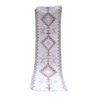 Short Handwoven Moroccan Berber Hall Kilim Runner Rug, Vintage Handmade Cottage Decor Eco Friendly Tribal Kelim 2'8'' X 8'10'' For Sale