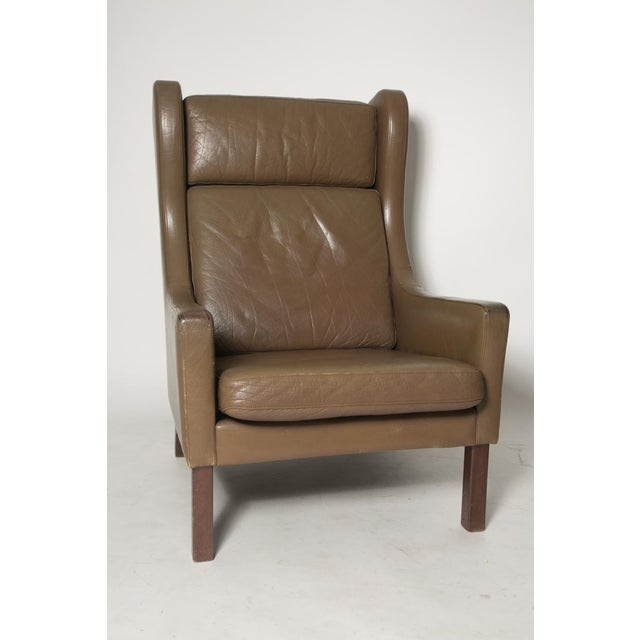 Contemporary Borge Mogensen Wingback Chairs - Set of Two For Sale - Image 3 of 7
