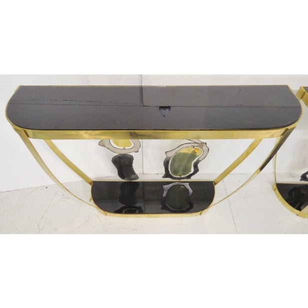 Italian Modern Sculptural Console Tables - Pair - Image 5 of 7
