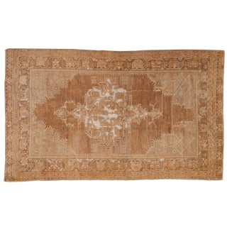 "Vintage Distressed Oushak Rug - 3'10"" X 6'6"" For Sale"