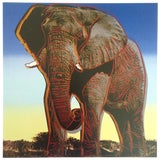 """Image of Andy Warhol Estate Rare Vintage 1992 Endangered Species Collector's Lithograph Pop Art Print """" African Elephant """" 1983 For Sale"""