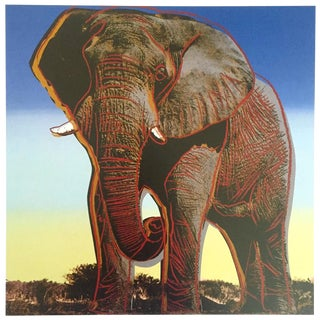 """Andy Warhol Estate Rare Vintage 1992 Endangered Species Collector's Lithograph Pop Art Print """" African Elephant """" 1983 For Sale"""