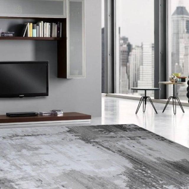 """Modern Gray Abstract Rug - 6'7""""x 9'7"""" - Image 3 of 4"""