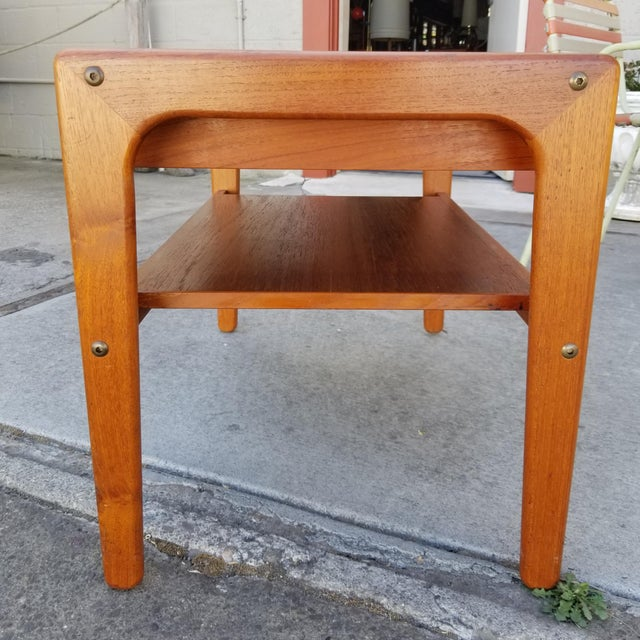 Mid 20th Century Teak Danish Modern Side Table With Drawer For Sale - Image 5 of 11