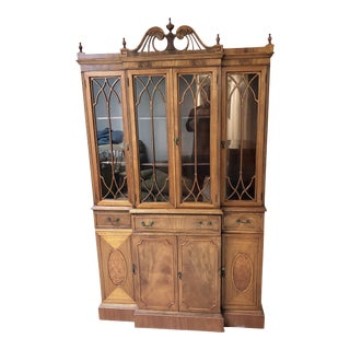 20th Century Chippendale Mahogany Breakfront For Sale
