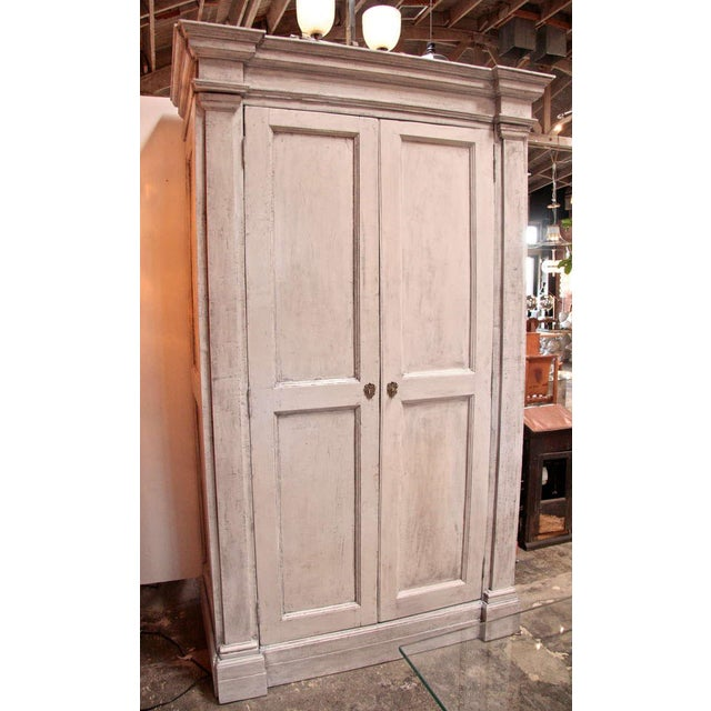 Italian Italian 18th C. Oversized Distressed Armoire For Sale - Image 3 of 11