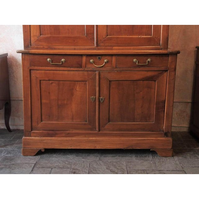 Antique French Fruitwood Buffet-A-Deux-Corps, Louis Philippe - Image 4 of 10