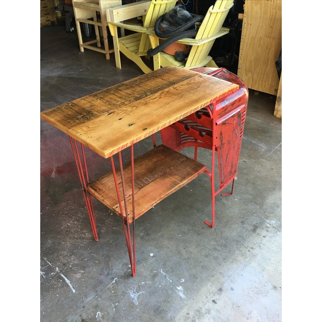 Rustic Tractor Table Wine Cabinet - Image 2 of 6