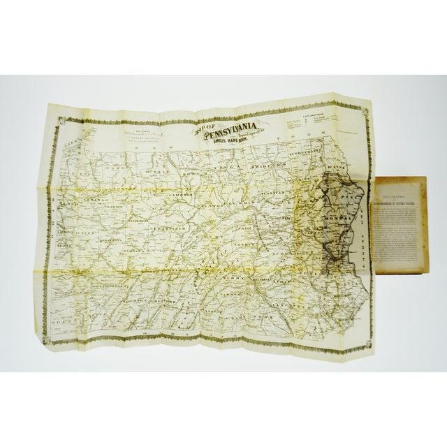 Purple 1875 Pennsylvania Legislative Handbook W/ Antique 1875 Map of Pennsylvania Smull For Sale - Image 8 of 13