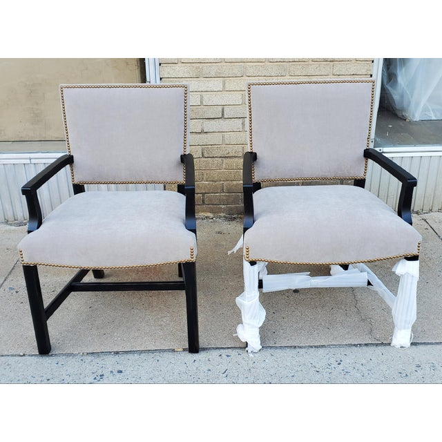 Henredon Furniture Mark D. Sikes Sheffield Upholstered Arm Chair For Sale In Greensboro - Image 6 of 11