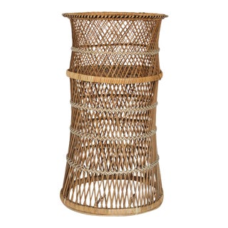 Boho Style Wicker Plant Stand For Sale