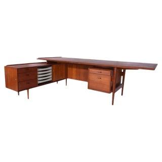 1960s Arne Vodder Teak Executive Desk For Sale