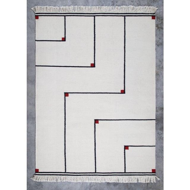 Rare flat-woven rug by Danish textile designer Vibeke Klint (1927-) Denmark, circa 1970s. Manufacturer: Linie Design,...