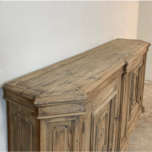 18th Century Stripped Pine Dutch Low Buffet For Sale - Image 9 of 12