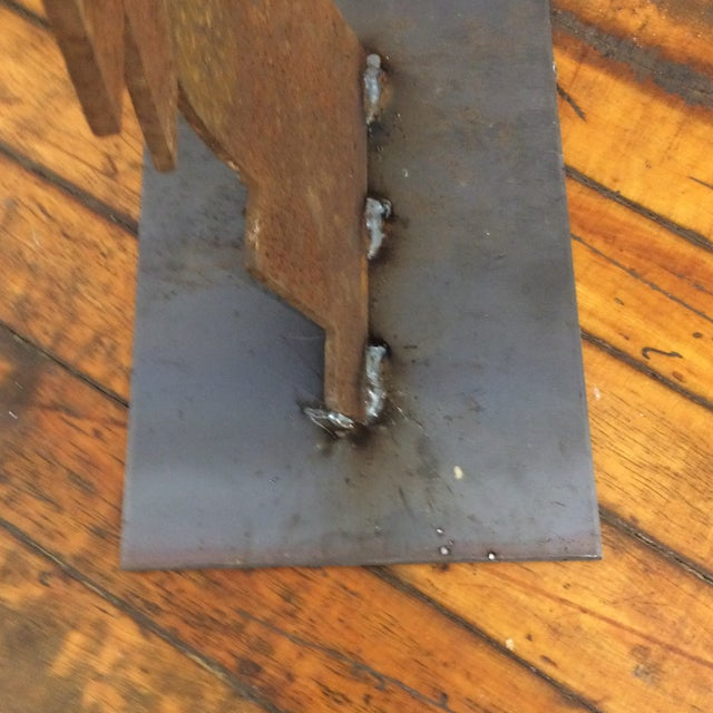 1990's Abstract Iron Sculpture For Sale In Providence - Image 6 of 8