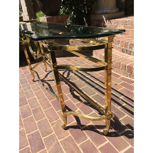 Brass LaBarge Sofa Table For Sale - Image 7 of 10
