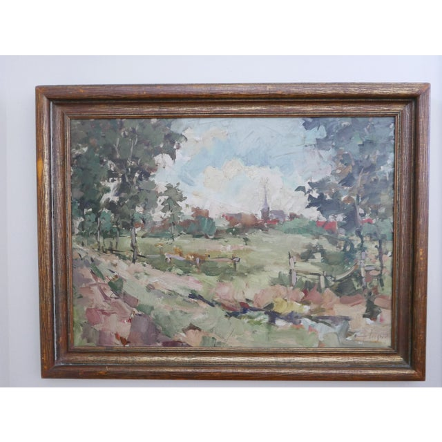 Dutch Landscape Oil Painting signed by Harry Zeegers