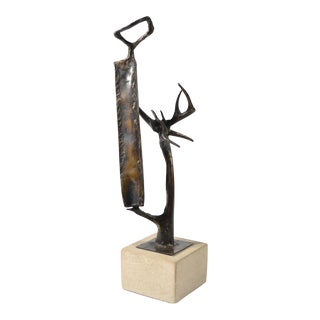 Abstract Bronze Sculpture by Clyde Ball