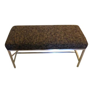 Upholstered Stainless Steel Bench For Sale