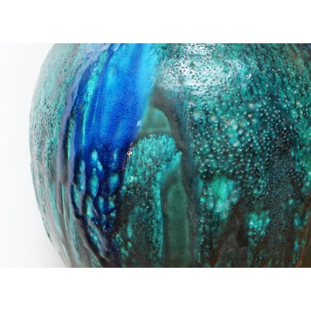 Blue Pottery Lamp - Image 3 of 4