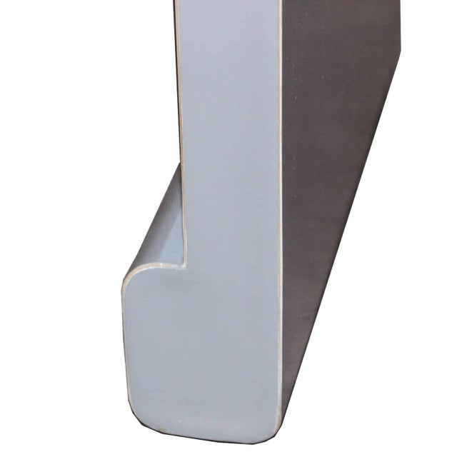 Gray Waterfall Console Table For Sale - Image 4 of 5