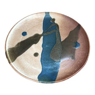 Mid-Century Modern Stoneware Plate For Sale