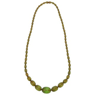 Chartruese Resin Diamond Faceted Necklace For Sale