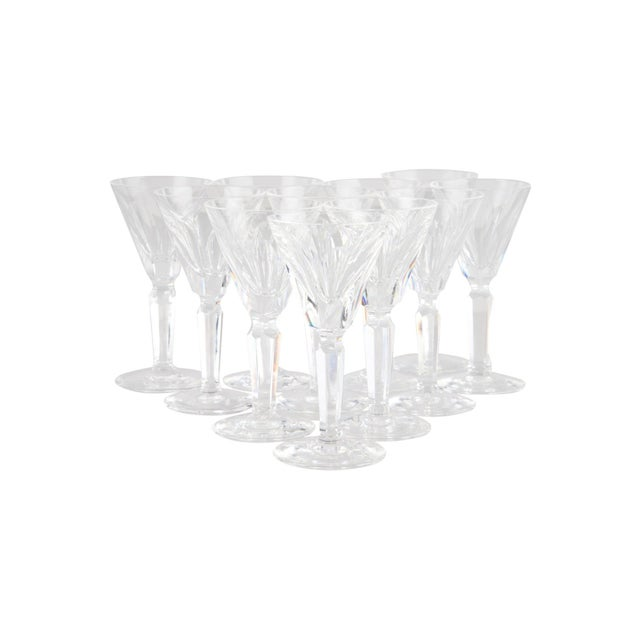 1960s Vintage Waterford Shelia Cordial Glasses - Set of 10 For Sale - Image 5 of 5