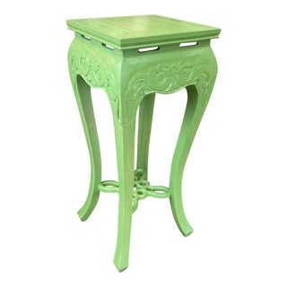 20th Century Asian Carved Plant Stand For Sale