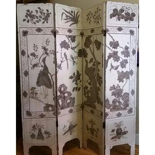 1920s Antique Chinese Gesso Screen Room Divider Preview