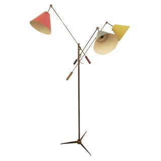 Triennale Floor Lamp by Angelo Lelli for Arredoluce, Marked, 1947 For Sale