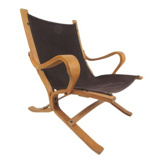Danish Bentwood Teak Lounge Chair For Sale